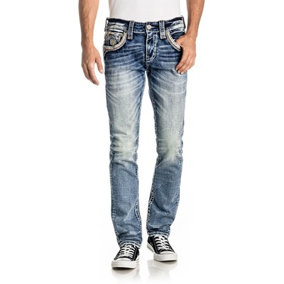 Rock Revival - Mens Sphinx A201 Alternative Straight Jeans