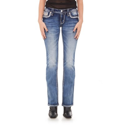 Rock Revival - Womens Peach Bud B202 Bootcut Jeans