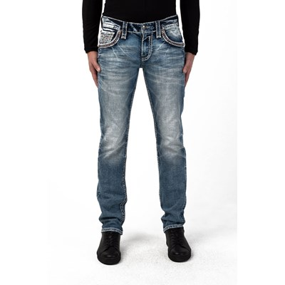 Rock Revival - Mens Clayton A200 Straight Jeans