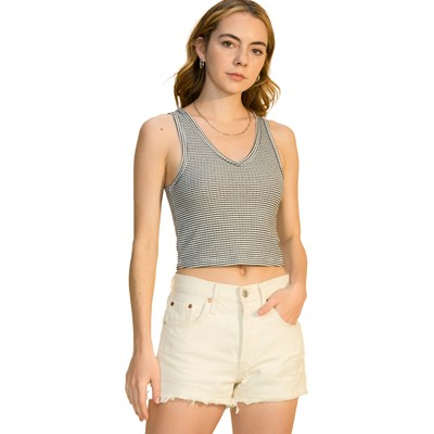 Hyfve - Womens V Neck Crop Tank Top