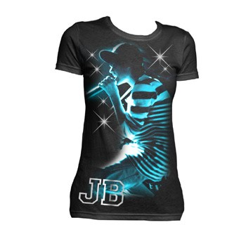Justin Bieber - Live Sparkle Youth T-Shirt In Black