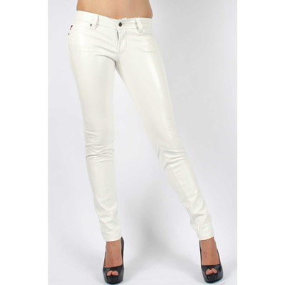 Tripp NYC - Ladies Crinkle Jeans in White