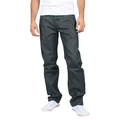 Levis - Mens 501 Button Fly Dark Grey Shrink to Fit Denim Jeans