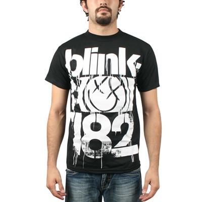 Blink 182 - 3 Bars Mens S/S T-Shirt in Black