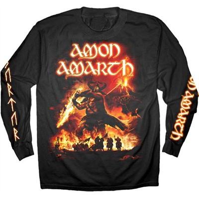 Amon Amarth - Mens Surtur Rising Summer 2011 Long Sleeve T-Shirt