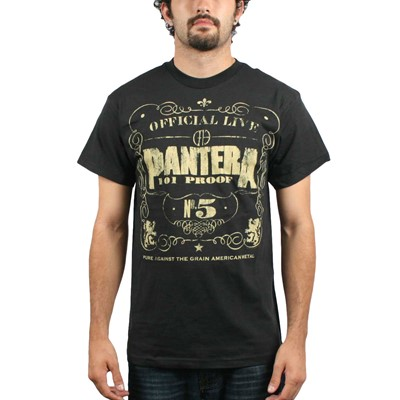 Pantera 101 Proof Adult S/S T-Shirt In Black