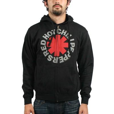 Red Hot Chili Peppers Asterik Zip Mens Hoodie