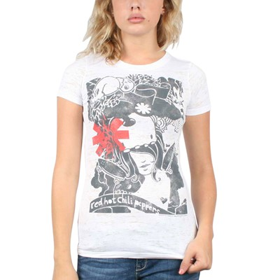 Red Hot Chili Peppers - Danis Dream Girls S/S T-Shirt In White