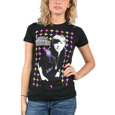 Justin Bieber Cross Juniors S/S T-Shirt In Black