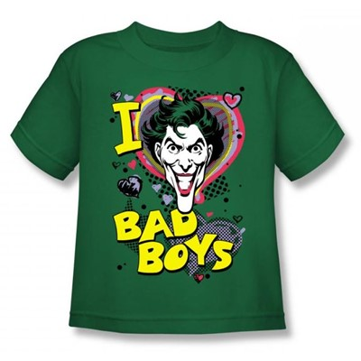 Dc Comics - I Heart Bad Boys 2 Juvy T-Shirt In Kelly Green