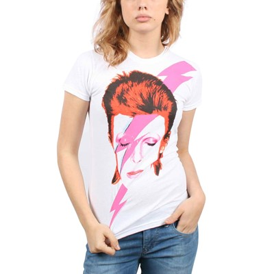 David Bowie - Womens Watch That Man T-Shirt In White