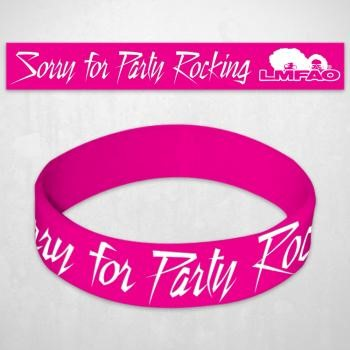 LMFAO - Sorry For Party Rocking Rubber Bracelet In Pink