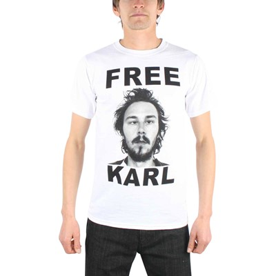 Workaholics - Mens Free Karl T-Shirt In White