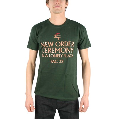 New Order - In A Lonely Place Mens T-Shirt In Forest Green