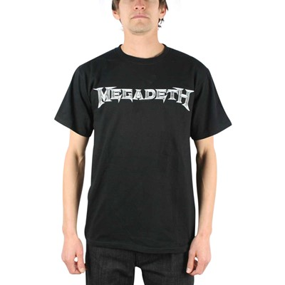 Megadeth - Logo Adult T-shirt In Black