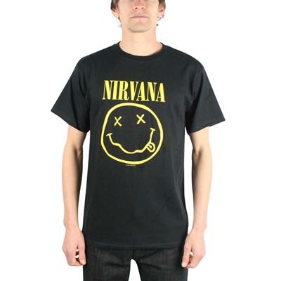Nirvana Smile T-shirt in Black