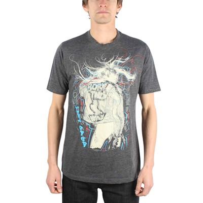 Lady Gaga - Scribbles 30/1 Tee Mens T-Shirt In Black