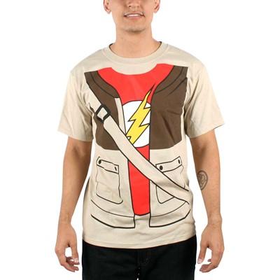 Big Bang Theory - Mens Sheldon Trompe T-shirt in Natural