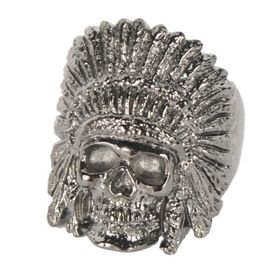 Han Cholo - Indian Chief Ring in Brass Plated Gunmetal