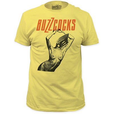 Buzzcocks - Mens Orgasm 2012 Fitted T-Shirt in Banana