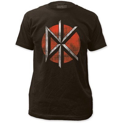 Dead Kennedys - Mens Distressed Logo Fitted T-Shirt in Black