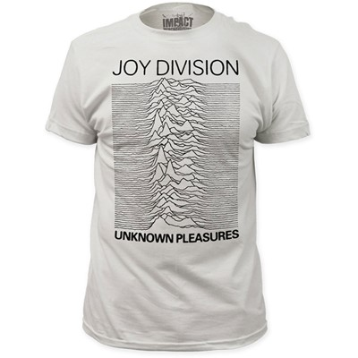 Joy Division - Mens Unknown Pleasures Fitted T-Shirt in White