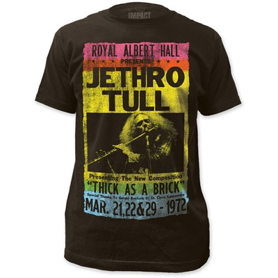 Jethro Tull - Mens Royal Albert Hall Fitted T-Shirt in Coal