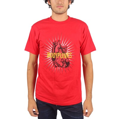 BodyPUNKS! - Mens Pumping Heart T-shirt In Red