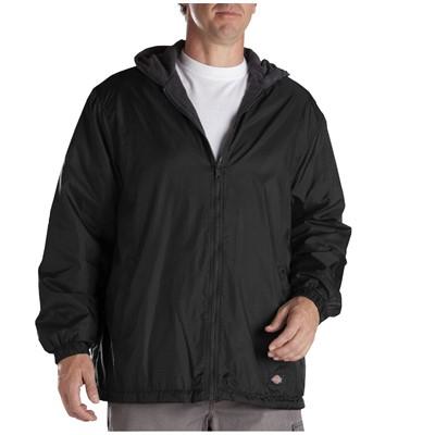 Dickies - Mens Fleece Lined Hooded Nylon Jacket