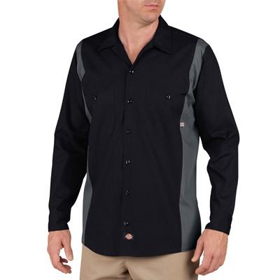 Dickies - Men's Long Sleeve Bk/Ch 2Tone Dow Shirt