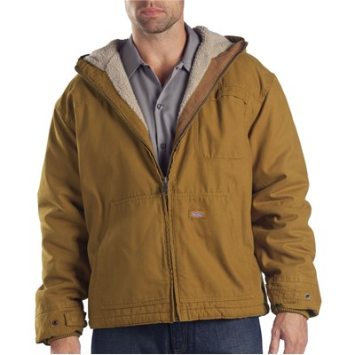 Dickies - TJ350 Sanded Duck Sherpa Lined Hooded Jacket