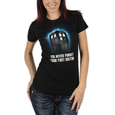 Dr. Who - First Doctor Womens T-Shirt in Black