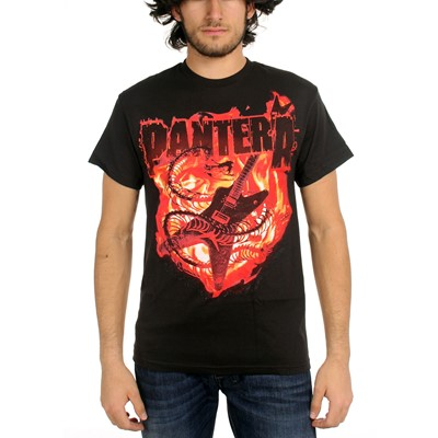 Pantera - Guitar Snake Mens S/S T-Shirt In Black