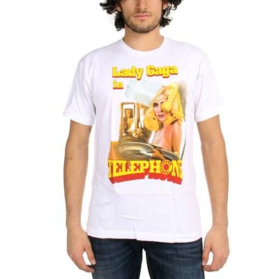 Lady Gaga - Telephone Waitress Mens S/S T-Shirt In White