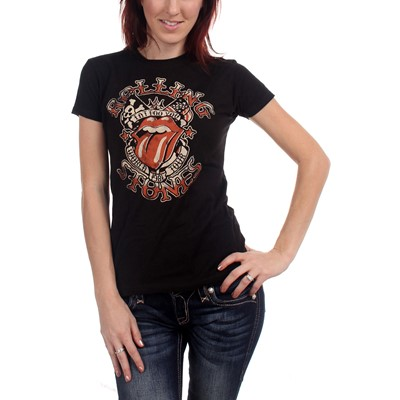 Rolling Stones - Tattoo You Tour Tee Girls S/S T-Shirt In Black