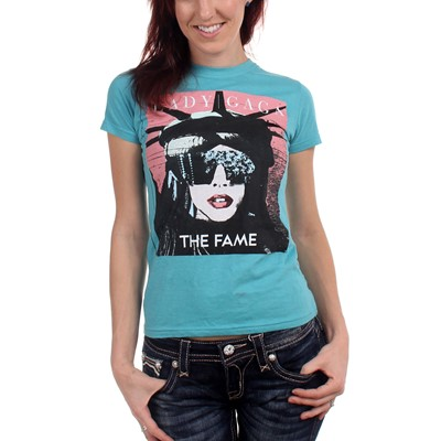Lady Gaga - Lady Liberty Girls S/S T-Shirt In Teal