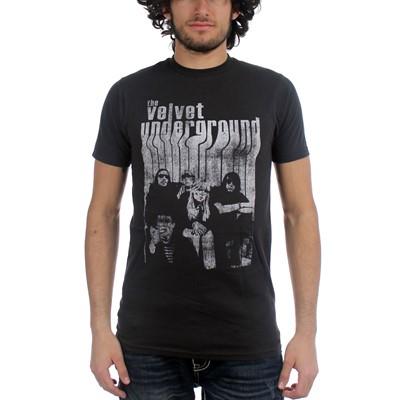 Velvet Underground - Band With Nico Mens T-Shirt In Coal