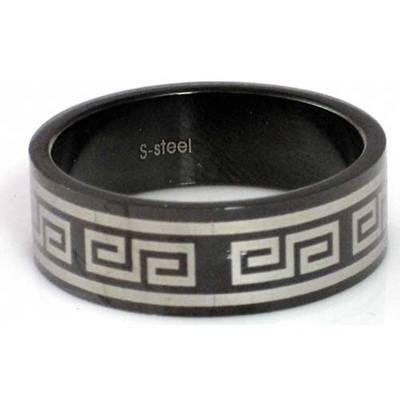 Blackline Tribal Design Stainless Steel Ring by BodyPUNKS (RBS-009)