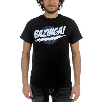 The Big Bang Theory - Bazinga! Black Mens T-Shirt in Black