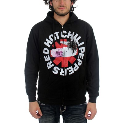 Red Hot Chili Peppers  - Mens With You Hooded Sweater In Black