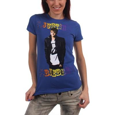 Justin Bieber - Fun Time Womens T-Shirt In Blue