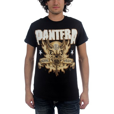 Pantera - Hostile Skull Mens T-Shirt In Black