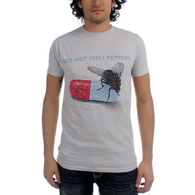 Red Hot Chili Peppers - Mens Fly Prints T-Shirt in White