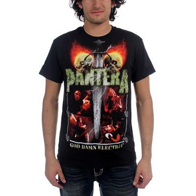 Pantera - Lightning Skulls Mens S/S T-Shirt In Black