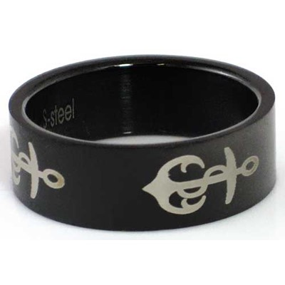 Blackline Anchor Design Stainless Steel Ring by BodyPUNKS (RBS-012)