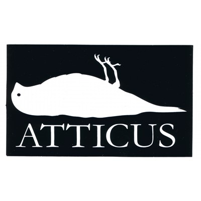 Atticus Sticker in Black - 5