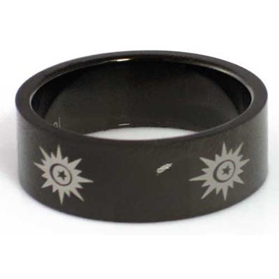 Blackline Sun Design Stainless Steel Ring by BodyPUNKS (RBS-014)
