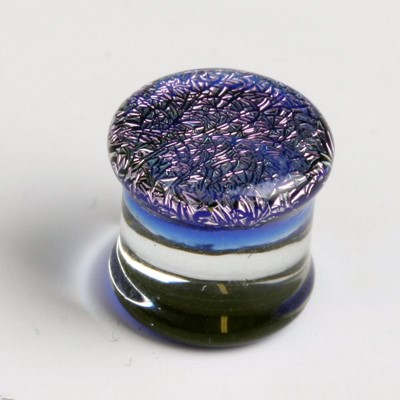Dichro Solid Pyrex Plug in Purple