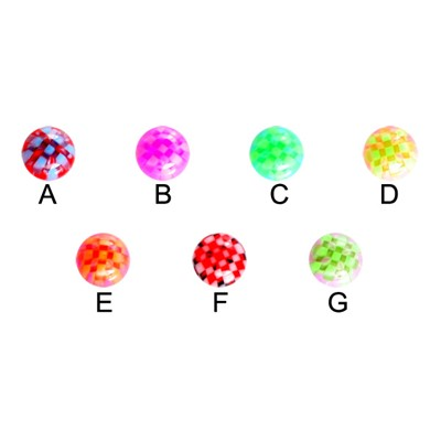UV Checker Ball for 14g and 12g Jewelry