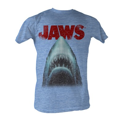Jaws - Stressed Out Mens T-Shirt In Light Blue Heather